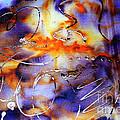 Blue Purple Orange Yellow And Silver  by Alexandra Jordankova
