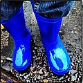 Blue Rain Boots by Julie Gahan