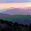 Blue Ridge Sunset by Cindy Manero