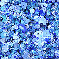 Blue Sequins Of Various Shapes And Sizes by Andrew Paterson