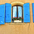 Blue Shutters In Provence by Dave Mills