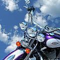 Blue Sky Harley by Lizi Beard-Ward