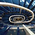 Blue Spiral Stairsway by Mike Nellums