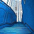 Blue Stairs by Charuhas Images