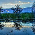 Blue Sunset by Debra and Dave Vanderlaan