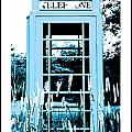 Blue Telephone Booth In A Field In Maine by Kara Ray
