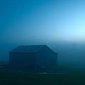 Blue Tobacco Barn Fog by Randall Branham