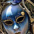 Blue Venetian Mask by David Smith