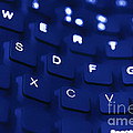 Blue Warped Keyboard by Simon Bratt Photography LRPS