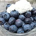 Blueberries And Cottage Cheese by Barbara Griffin