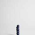 Blueberries Arranged Into A Stack, Studio Shot by Halfdark