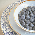 Blueberries In Blue And White China Bowl by Lyn Randle