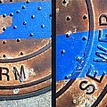 Bluer Sewer Diptych by Marlene Burns
