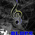 Blues Music Poster by Linda Seacord