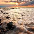 Bluffs Beach Sunset 3 by Darren Creighton