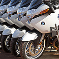 Bmw Police Motorcycles by Jill Reger