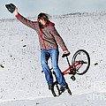Bmx Flatland In The Snow - Monika Hinz by Matthias Hauser