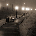 Boardwalk In The Fog by Bill Pevlor