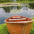 Boat By The Pond by Carolyn Fox
