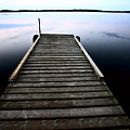 Boat Dock At Smallfish Lake In Scenic Saskatchewan by Mark Duffy