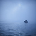 Boat In Misty Waters by Copyright Yug_and_her