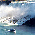 Boat On Niagara Falls by Diana Haronis