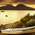 Boat On The Shore At Sunset, Island Of by John Short