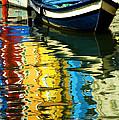 Boat Reflections Burano Italy