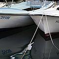 Boat Reflections In Hvar by Madeline Ellis