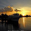 Boat Sunset by G Adam Orosco