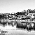 Boathouse Row In Black And White by Bill Cannon