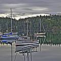 Boating Reflections by Derek Holzapfel