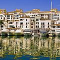 Boats And Houses On Waterfront by Axiom Photographic