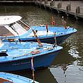 Boats In Amsterdam. Holland by Ausra Huntington nee Paulauskaite