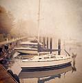 Boats In Foggy Harbor by Jill Battaglia