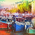 Boats In Italy by Miki De Goodaboom