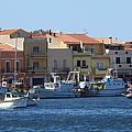 boats of Sant Antioco by Len Yurovsky