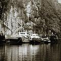 Boats On Halong Bay 1 by Skip Nall