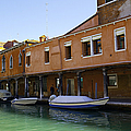 Boats On The Canal - Venice by Madeline Ellis