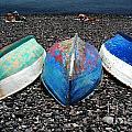 Boats On The Shingle by Rob Hawkins