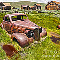 Bodie Ghost Town - Rusted Old Car 02 by Gregory Dyer