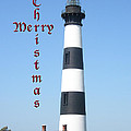 Bodie Lighthouse - Outer Banks - Christmas Card by Mother Nature