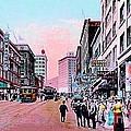 Bon Marche Department Store In Seattle Wa In 1910 by Dwight Goss