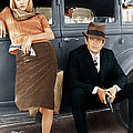 Bonnie And Clyde, From Left Faye by Everett