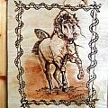 Born To Be Free-sylver  Horse Pyrography by Egri George-Christian