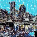 Boston Skyline by Dean Wittle