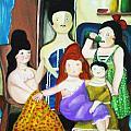 Botero Style Family by Vickie Meza