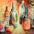 Bottles And Glasses And Mugs 03 by Miki De Goodaboom