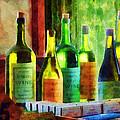 Bottles Of Wine Near Window by Susan Savad