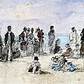 Boudin: Beach Scene, 1869 by Granger